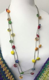 covered button necklace