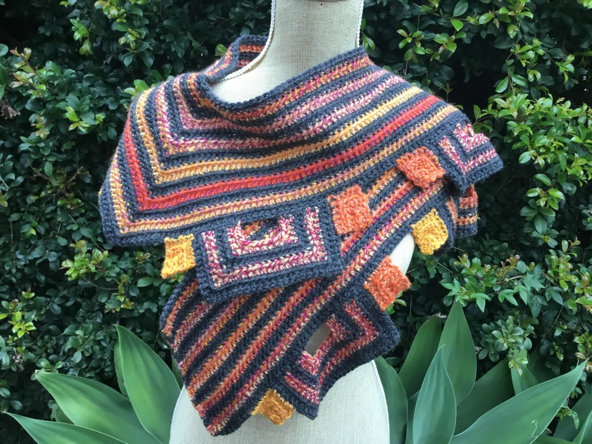 mitred square scarf (2)