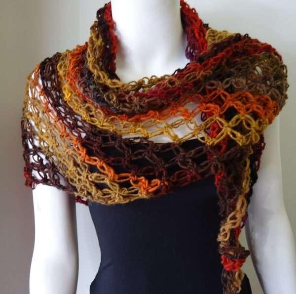 noro solomons knot shawl